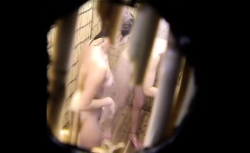horny-voyeur-finds-a-sexy-slim-brunette-taking-a-shower