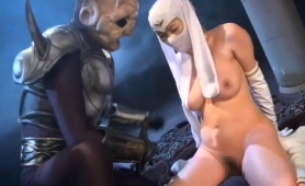 Masked Oriental Chick With Perky Boobs Is Made To Cum Hard