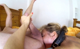Kinky Mature Blonde Tongues A Guy's Ass And Blows His Dick
