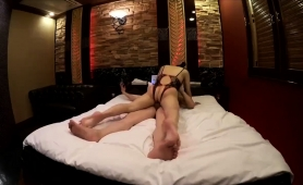 Bodacious Japanese Wife In Sexy Lingerie Enjoys A Hard Stick