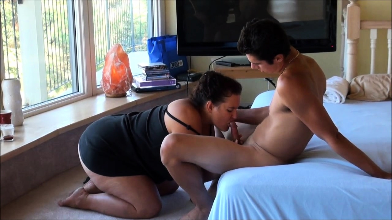 Chubby Brunette Fucked Couch
