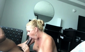 Hot Blonde Milf With Big Tits Feeds Her Hunger For Dark Meat