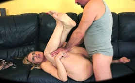 Slutty Mature Blonde Has A Fat Cock Deeply Drilling Her Ass