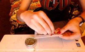Beautiful Brunette Teen Reveals Her Blowjob Skills On Webcam