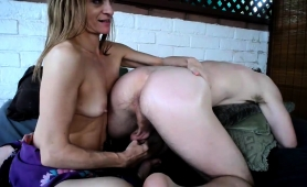 Sultry Wife Blows Her Lover's Cock And Pleases His Anal Hole