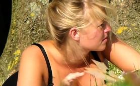 Voyeur Spies On A Gorgeous Blonde Teen In Tight Pink Panties