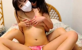 Two Masked Asian Teens Explore Their Lesbian Urges On Webcam