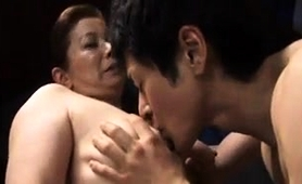 Two Buxom Oriental Milfs Share Their Love For Young Meat