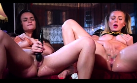 Two Busty Lesbian Friends Share Their Love For Masturbation